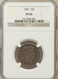 Proof Barber Quarters: , 1909 25C PR65 NGC. NGC Census: (33/75). PCGS Population (25/43). Mintage: 650. Numismedia Wsl. Price for problem free NGC/P...