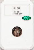 Proof Seated Dimes, 1884 10C PR65 NGC. CAC....