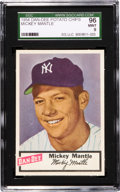 Baseball Cards:Singles (1950-1959), 1954 Dan-Dee Potato Chips Mickey Mantle SGC 96 Mint 9 - Pop Three,None Higher! ...