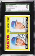 Baseball Cards:Singles (1960-1969), 1967 Topps Tom Seaver Rookie #581 SGC 96 Mint 9 - None Higher! ...