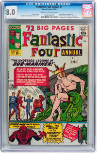 Fantastic Four Annual #1 (Marvel, 1963) CGC VF 8.0 Cream to off-white pages