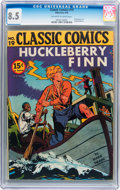 Golden Age (1938-1955):Classics Illustrated, Classic Comics #19 Huckleberry Finn - First edition (Gilberton,1944) CGC VF+ 8.5 Off-white to white pages....