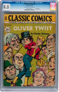 Golden Age (1938-1955):Classics Illustrated, Classic Comics #23 Oliver twist - First edition (Gilberton, 1945)CGC VF+ 8.5 Off-white to white pages....