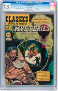 Golden Age (1938-1955):Classics Illustrated, Classics Illustrated #40 Mysteries - First edition (Gilberton, 1947) CGC VF- 7.5 Off-white pages....