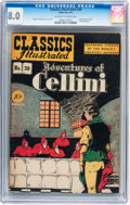 Golden Age (1938-1955):Classics Illustrated, Classics Illustrated #38 Adventures of Cellini - First edition(Gilberton, 1947) CGC VF 8.0 Off-white to white pages....