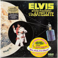 Music Memorabilia:Recordings, Elvis Presley Aloha From Hawaii Via Satellite Sealed LP withRare Stickers (RCA 6089, 1973). ...
