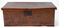 Decorative Arts, British:Other , AN ENGLISH CARVED OAK BOX . 19th century . 9-1/2 inches high x 27inches wide x 15-3/4 inches deep (24.1 x 68.6 x 40.0 cm). ...