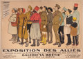 Prints, ROBERT DE CONINCK (French, 19th Century). Exposition DesAllies, 1916. Color lithograph. 44 x 61-1/2 inches (111.8 x...