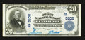 National Bank Notes:West Virginia, Huntington, WV - $20 1902 Plain Back Fr. 650 The First NB Ch. #(S)3106. ...