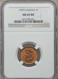 Indian Cents, 1909-S 1C MS65 Red and Brown NGC....