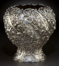 A KIRK SILVER VASE Samuel Kirk & Son Co., Baltimore, Maryland, circa 1903-1907 Marks: S. KIRK & SON CO., 92
