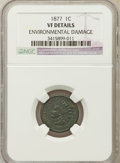 Indian Cents, 1877 1C -- Environmental Damage -- NGC Details. VF. NGC Census:(136/1586). PCGS Population (121/1241). Mintage: 852,50...