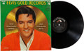 Music Memorabilia:Recordings, Elvis' Gold Records Volume 4 Mono LP and Publicity Photo(RCA 3921, 1968).... (Total: 2 Items)