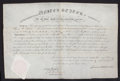 General Americana, JAMES C. PICKETT COMMISION PAPERS . February 16,1820. 10-1/4 x 8inches (26.0 x 20.3 cm). Manuscript, signed by President Mo...