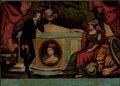 Prints, PRINCE COBOURG AT THE TOMB OF HIS BELOVED CONSORT PRINCESSCHARLOTTE OF WALES. 19th century. 10 x 14 inches (25....