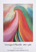 Prints, MORRIS LOUIS (American, 1912-1962) and. GEORGIA O'KEEFFE (American,1887-1986). A Collection of Three Art Posters. I... (Total:3 Items)