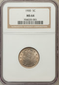 Liberty Nickels: , 1900 5C MS64 NGC. NGC Census: (298/203). PCGS Population (324/194).Mintage: 27,255,996. Numismedia Wsl. Price for problem ...