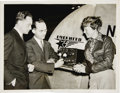 """Transportation:Aviation, Large Archive of Early Amelia Earhart Press Photos. Housed in clearplastic sleeves in a 13"""" x 15"""" black archival album. App... (Total:50 Item)"""