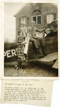 "Transportation:Aviation, Large Scrapbook of Early Aviators Photographs. Housed in clearplastic sleeves in a 13"" x 15"" black archival album. Approxim...(Total: 30 Item)"