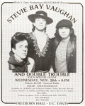 Music Memorabilia:Posters, Stevie Ray Vaughan and Double Trouble Freeborn Hall Concert Poster(1984). Get ready for a cold shot of Double Trouble with... (Total:1 Item)