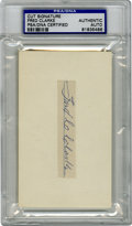"""Autographs:Letters, Fred Clarke Signed Index Card PSA Authentic. The first successfulfrom the """"boy managers, """"Fred C. Clarke led his Pittsburg..."""