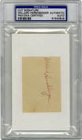 Autographs:Index Cards, Willard Hershberger Signed Index Card PSA Authentic. The only manto have the dubious distinction of committing suicide du...