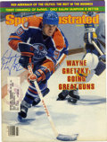 """Hockey Collectibles:Others, 1982 Wayne Gretzky Signed """"Sports Illustrated"""" Magazine. The Great One has applied a perfect blue sharpie signature to this ..."""