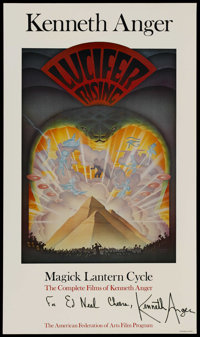 """Lucifer Rising (The American Federation of Arts Film Program, 1980s). Poster (21"""" X 36""""). Short Subject"""