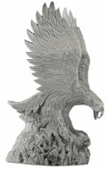Asian:Other, An Asian Bronze Eagle. . Unknown maker, Asian. Early 20th century.Bronze. Unmarked. 72 x 42 x 25 inches . Depicting an ...