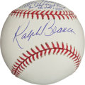 "Autographs:Baseballs, Ralph Branca And Bobby Thomson ""The Shot Heard Round The World""Dual Signed Baseball...."