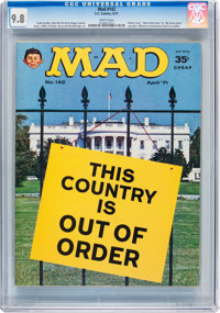 Mad #142 (EC, 1971) CGC NM/MT 9.8 White pages