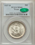 1937-D 50C Texas MS66 PCGS. CAC. PCGS Population: (577/187). NGC Census: (475/106). CDN: $220 Whsle. Bid for problem-fre...
