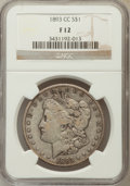 1893-CC $1 Fine 12 NGC. NGC Census: (102/2603). PCGS Population (194/4805). Mintage: 677,000. Numismedia Wsl. Price for...