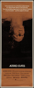 """Movie Posters:Science Fiction, Altered States (Warner Brothers, 1980). Insert (14"""" X 36""""). Science Fiction.. ..."""