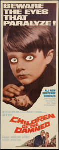 "Movie Posters:Science Fiction, Children of the Damned (MGM, 1963). Insert (14"" X 36""). Science Fiction.. ..."