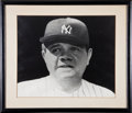 Baseball Collectibles:Photos, Circa 1947 Babe Ruth Photograph On Display at Yankee Stadium....