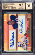 Football Cards:Singles (1970-Now), 2007 Topps Co-Signers Autograph Hologold Sayers/Sanders BGS GemMint 9.5, Autograph 10 #'d 1 of 1. ...