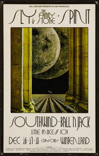 "Sly and the Family Stone at Winterland (Bill Graham, 1969). Concert Poster (13.75"" X 21.75""). Rock and Roll..."