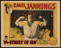 "Movie Posters:Drama, The Street of Sin (Paramount, 1927). Lobby Card (11"" X 14"").Drama.. ..."