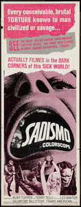 "Movie Posters:Exploitation, Sadismo (Trans American, 1967). Insert (14"" X 36""). Exploitation.. ..."