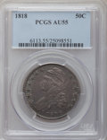 Bust Half Dollars: , 1818 50C AU55 PCGS. PCGS Population (78/165). NGC Census: (64/214).Mintage: 1,960,322. Numismedia Wsl. Price for problem f...