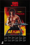 "Movie Posters:Action, Rambo: First Blood Part II (Tri-Star, 1985). Video Calendar Poster (24"" X 36"") Advance. Action.. ..."