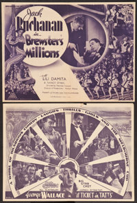 "Brewster's Millions & Other Lot (British & Dominions Film Corp., 1935). Australian Heralds (2) (7"" X 10&quo..."