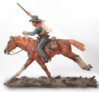 HARRY ANDREW JACKSON (American, 1924-2011) The Marshal, 1980/1981 Bronze with polychrome 57 inche