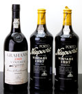 Port/Madeira/Misc Dessert, Graham's Vintage Port . 1985 bsl, tal Bottle (1). Niepoort Vintage Port . 1997 spc Bottle (2). ... (Total: 3 Btls. )