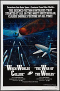 "Movie Posters:Science Fiction, The War of the Worlds/When Worlds Collide Combo (Paramount,R-1977). One Sheet (27"" X 41""). Science Fiction.. ..."
