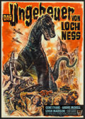 "Movie Posters:Science Fiction, The Giant Behemoth (Unitas, 1959). German A1 (23.5"" X 33""). ScienceFiction.. ..."