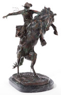 Sculpture, After FREDERIC REMINGTON (American, 1861-1909). Bronco Buster. Bronze. 31-1/2 inches (80.0 cm). Bears signature on base:...