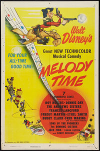"Melody Time (RKO, 1948). One Sheet (27"" X 41""). Animated"