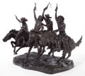 Sculpture, After FREDERIC REMINGTON (American, 1861-1909). Coming Through the Rye. Bronze. 28 inches (71.1 cm). Bears signature on ...